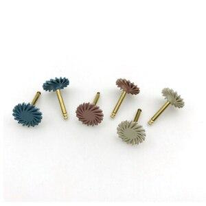 Image 4 - 6 sztuk/zestaw Dental Composite żywica tarcza do polerowania zestaw spirali Flex Brush Burs materiały stomatologiczne wybielanie zębów narzędzie ścierne zestaw