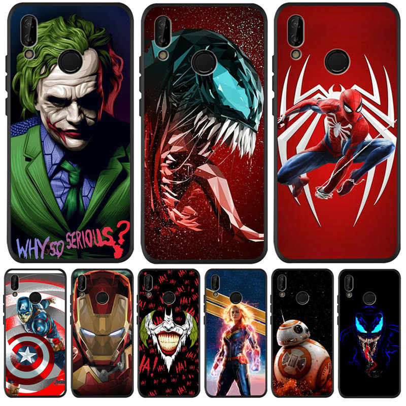 Роскошный чехол Marvel joker venom для huawei P8 P10 P20 P30 mate 10 20 Honor 8 8X 8C 9 10 Lite Plus Pro Чехол Coque Etui Funda cat
