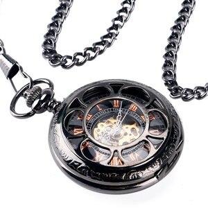 Image 3 - H ollowดอกไม้กรณีวิศวกรรมลมขึ้นนาฬิกาพกสีดำมือคดเคี้ยวStewampunk Fobจี้พยาบาลนาฬิกาที่มีสไตล์