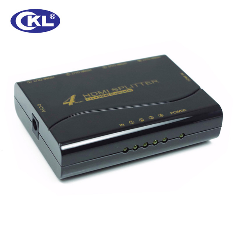 CKL HD-94M 1*4 4 Port Mini HDMI Splitter Support 1.4V 3D 1080P