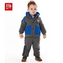 Детская одежда установить 2015 новых зима детские пиджак + vestcoat + длинные брюки дети марка спортивный костюм спортивный костюм 100% хлопок для мальчика