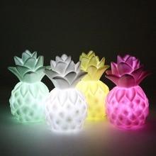 Creative לילה אורות אננס Led מנורת רך סיליקון צעצוע מתנת אור גבוהה כוח בהיר שולחן שולחן דקור לילה מנורה