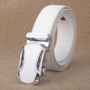 Image 3 - Sıcak satış marka yüksek dereceli Bentley Unisex otomatik tokalı kemerler erkekler iş rahat hakiki deri lüks beyaz kemer erkekler için