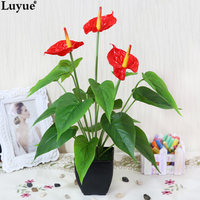 Artificial Plants Artificial Tree Floor Decoration Small Bonsai Fake Tree Single Pole Beauty Anthurium