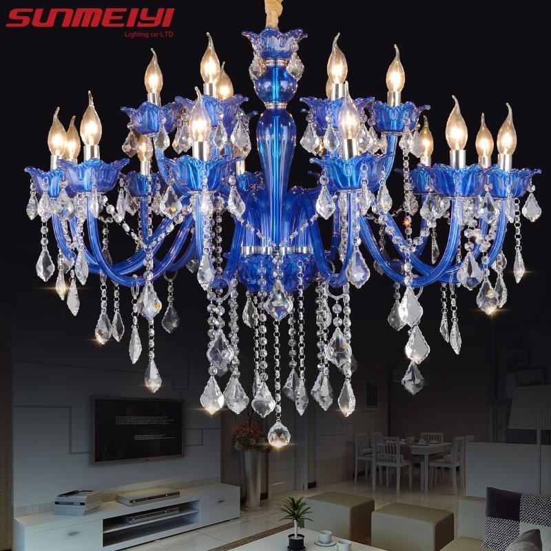 Neue Moderne Blau Kristall Kronleuchter Für Wohnzimmer Schlafzimmer Innen  Lampe K9 Kristall Lüster De Teto Decke Kronleuchter
