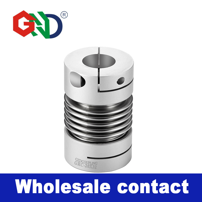 GRC de aleación de aluminio de fuelle de pinza de la serie acoplamientos de ejes diseño para servo motor paso a acoplador