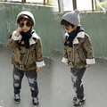 The new winter 2016 children ultra modern camouflage lambs wool jacket coat free shipping