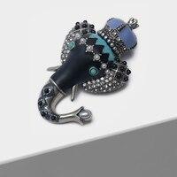 Amorita boutique Long nose little elephant pin exotic vintage brooch