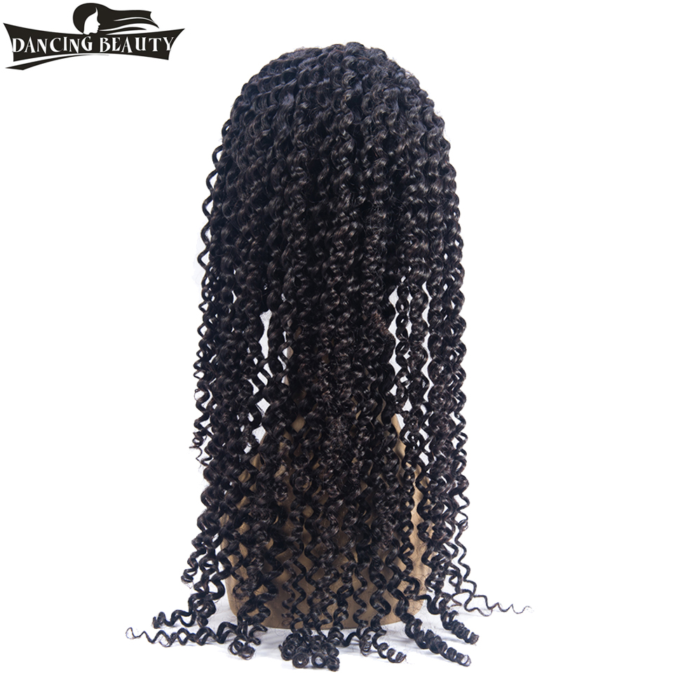 DANCING BEAUTY Pre-Colored Lace Frontal Human Hair Wigs For Black Women Pre Plucked 130% Density Non Remy Brazilian Curly Hair