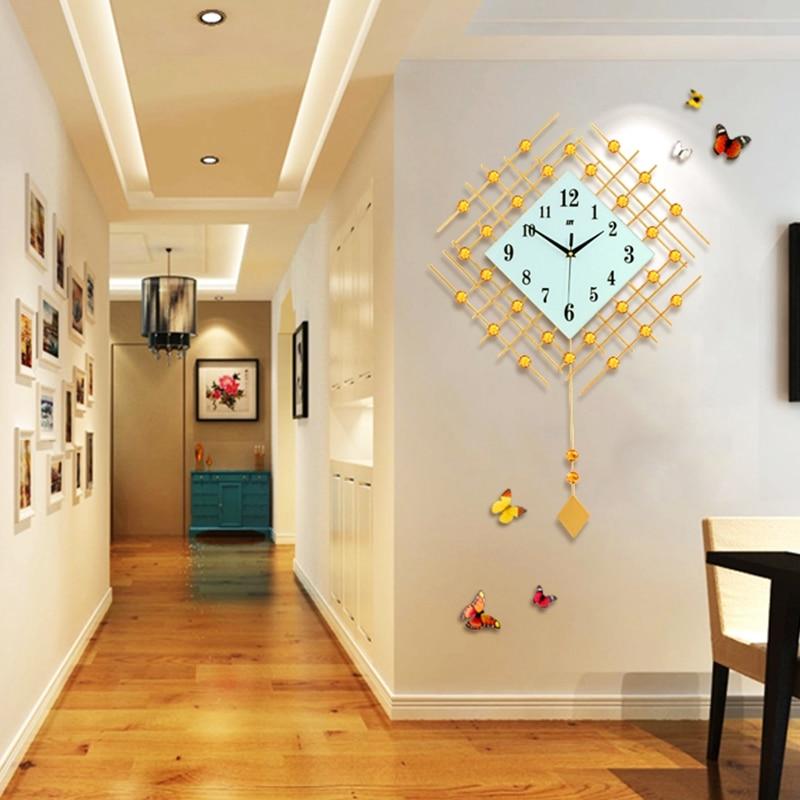 3D Big Swing Wall Clock Modern Design Decorative Home Decor Wall ...