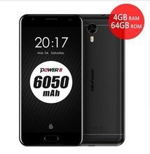 Ulefone Power 2 Android 7.0 Smartphone 4GB RAM 64GB ROM MTK6750T Octa Core 5.5″FHD 6050mAh Quick Charge 16.0MP OTG Mobile Phone
