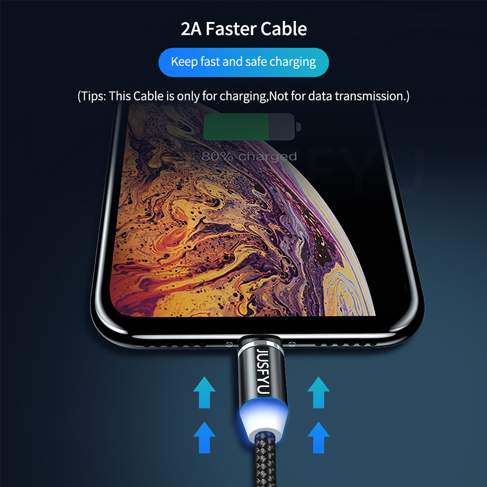 Image 5 - Magnetic Cable 1m Nylon Braided Mobile LED Type C Micro USB C Magnet Charger Cable For Apple iPhone Xs 7 8 6 11 Pro Max Samsung-in Mobile Phone Chargers from Cellphones & Telecommunications