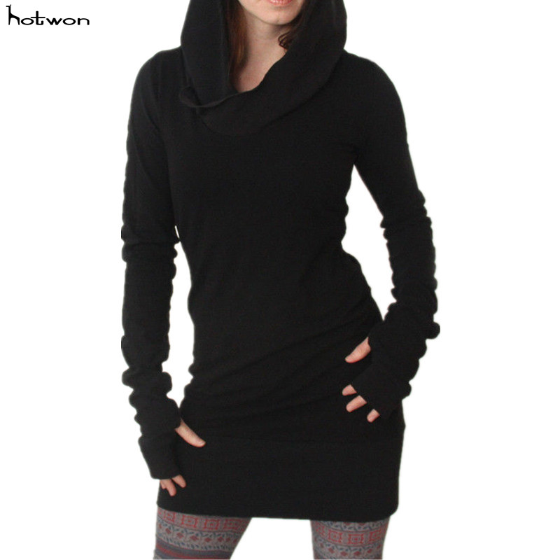New Hot Sale Women Long Sleeve Casual Bodycon Hoddie Sweater Fullover Jumper Autumn Dress
