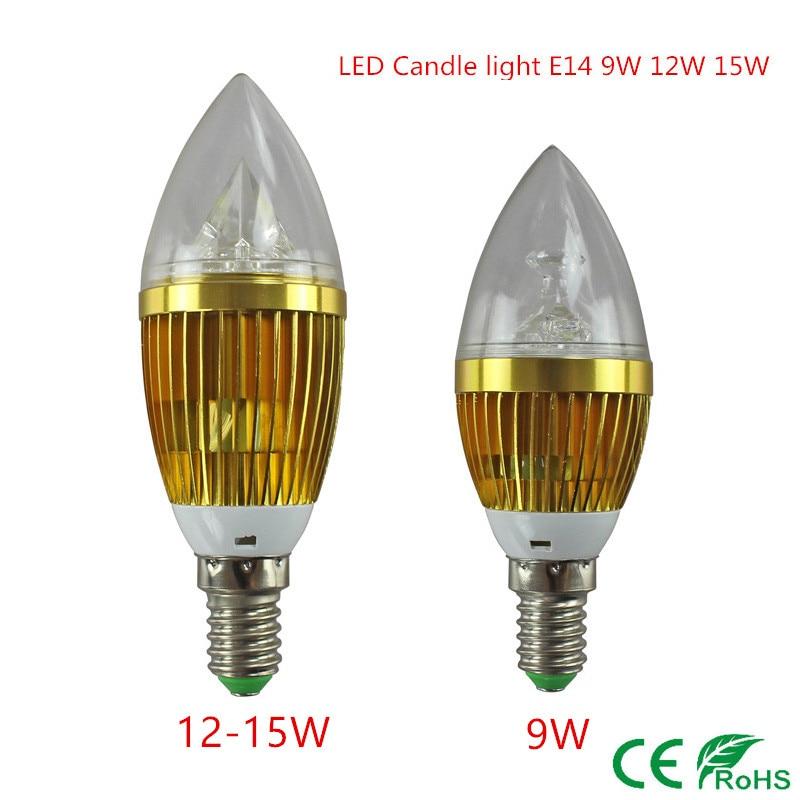 10x Led Candle Light E14 9w 12w 15w E14 Dimmable 110v 220v