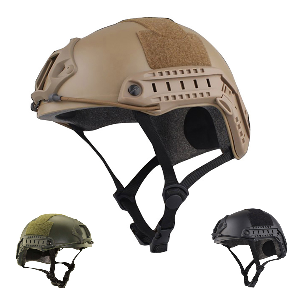 FAST Helmet MH Style Military Protective Helmet Square Hole w NVG Shroud Side Rail Lightweight for