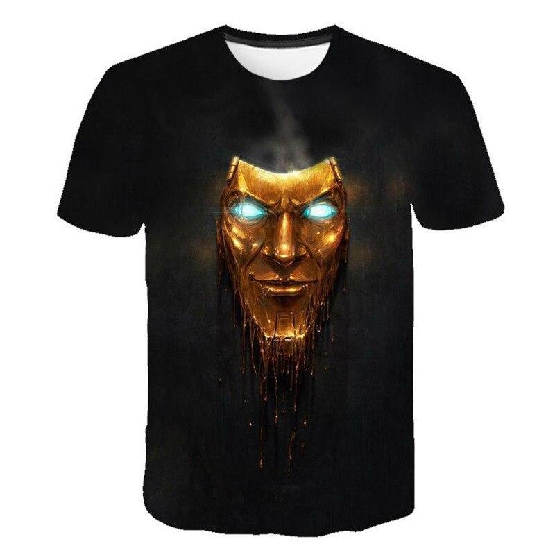 2019 Summer New Men/Women T Shirt RPG Style Shooting Game 3D Printed T Shirt Men/women Borderlands 3 T Shirts Hip Hop Skull Tee