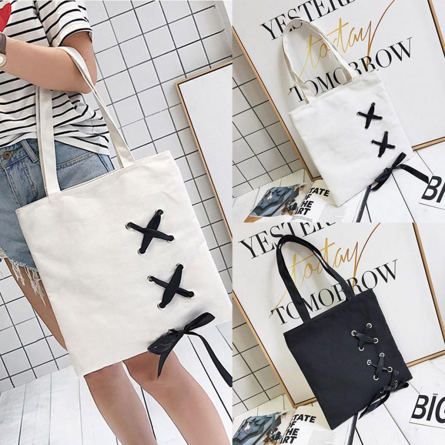 2018 Cartoon Rose Print Beach Zipper Bag Bolsa Feminina Canvas Tote Shopping Handbags Sac A Main Femme De Marque