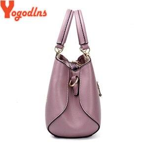 Image 3 - Yogodlns 2020 Fashion Handbags Women Messenger Bag Female PU Leather Shoulder Bag Womens Embroidery Flower Handbag sac a main