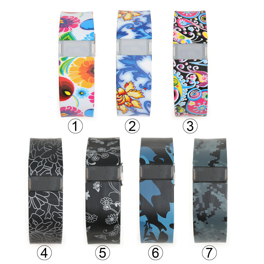 XBERSTAR Replacement Strap for <font><b>Fitbit</b></font> <font><b>Charge</b></font> <font><b>HR</b></font> Watchband Wrist Band Silicone Colorful Printed