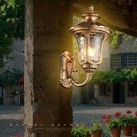 LED Retro lâmpada de Parede Arandela Iluminação À Prova D' Água Do Jardim Ao Ar Livre Luminárias de Parede de Alumínio Luzes Da Varanda de Vidro Antigo