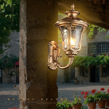 retro led wall lamp outdoor wall sconce lighting waterproof garden wall light fixtures aluminum glass antique antique courtyard outdoor lighting 1
