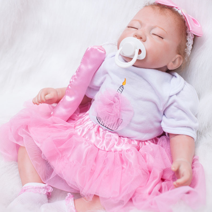 50cm Body Silicone Reborn Baby Dolls Toy Lifelike 20inch Vinyl Newborn Sleeping Princess Girl Babies Alive Doll Birthday Present 50cm soft body silicone reborn baby doll toy lifelike baby reborn sleeping newborn boy doll kids birthday gift girl brinquedos
