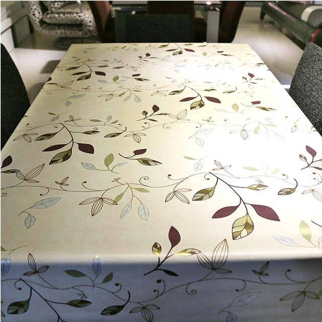 Soriace Waterproof Oilcloth Tablecloth Natural PVC Vinyl Wipe Clean Dining  Kitchen Table Cover Protector Tablecover 137