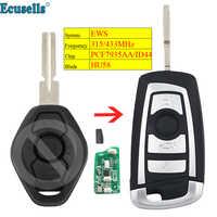 Geändert flip 315MHZ 433MHZ ID44/PCF7935 chip 3 Taste remote key für BMW EWS 325 330 318 525 530 540 E38 E39 E46 M5 X3 X5 HU58
