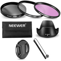 Neewer 55MM Lens Filter Accessory Kit For Sony Alpha Cameras With 55MM Lens UV CPL FLD
