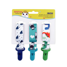 3pcs Pacifier Clips for Babies Newborn Soother Clip Chain Pe