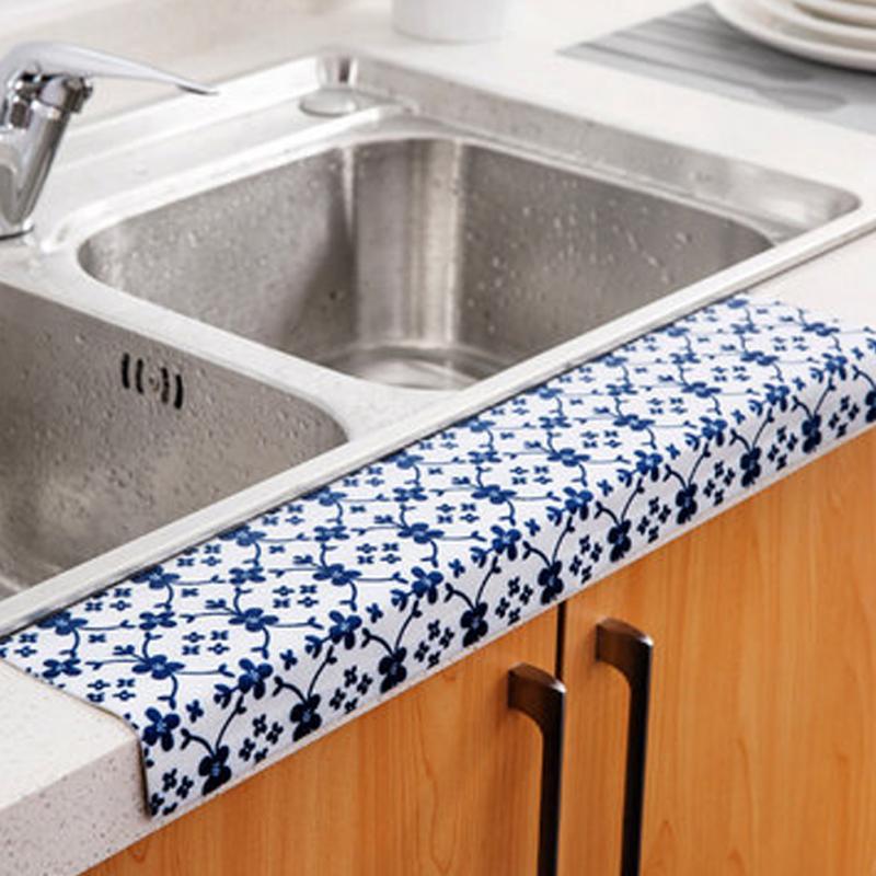 new creative kitchen sink stickers waterproof water sucking stickers home decor bathroom