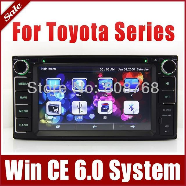 2Din Car DVD Player for Toyota Yaris Vios Tundra Highlander with GPS Navigation Radio TV BT USB SD AUX Map Audio Video Stereo