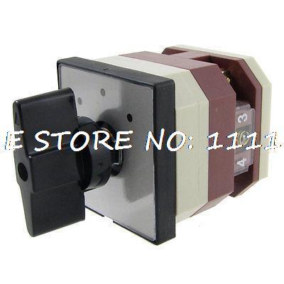 380V/AC 220V/AC on/off/on Rotary Cam 4 Screw Terminals Changeover Switch380V/AC 220V/AC on/off/on Rotary Cam 4 Screw Terminals Changeover Switch