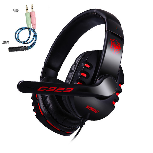 SOMIC Gaming Headset casque PS4 Stereo Bass Game Headphones Earphone with Mic for phones Computer XBOX One PC auriculares Gamer
