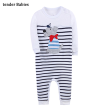 Fox Baby Rompers Autumn Knitted baby boys girls clothes set long-sleeve Reindeer Newborn Romper jumpsuit de 12M