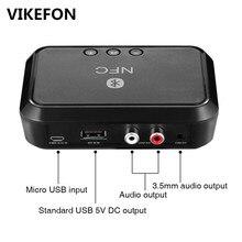 VIKEFON Bluetooth Empfänger NFC/USB Disk Musik Lesen Stereo Wireless Adapter 3,5mm AUX/RCA Auto Lautsprecher Bluetooth audio Empfänger