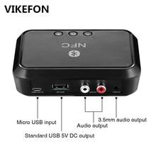 VIKEFON récepteur Bluetooth NFC/USB disque lecture de musique stéréo adaptateur sans fil 3.5mm AUX/RCA haut parleur de voiture récepteur Audio Bluetooth