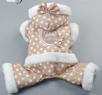 Winter New Arrival Princess Dog Autumn And Winter Cotton Clothes Dot Pattern Pet Clothing Supplies