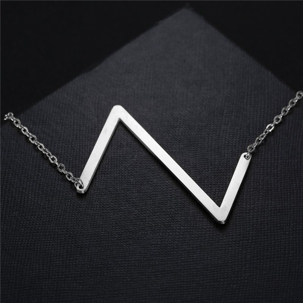 6 Letter U-z Silver Necklaces Mother's Day Gift Jewelry Necklaces Stainless Steel Pendants Initial Necklace #239939