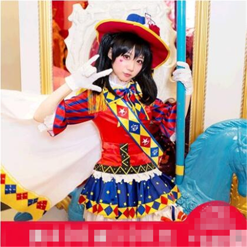 Christmas Cosplay Anime Love live Magician Awakening Nico Yazawa Cosplay Costume Women Dresses Top+Dress+Shwal+Socks+Gloves+Hat