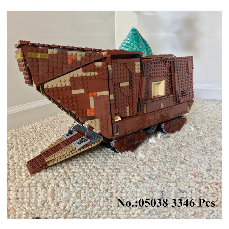 H&HXY IN STOCK 05038 3346Pcs Star Force Awakens Sandcrawler Wars Model Building Kit Blocks Brick lepin DIY Toys Compatible 75059 in stock lepin 05038 3346pcs star force awakens sandcrawler wars model building kit blocks brick compatible 75059 children toy