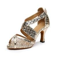 Rhinestone Latin Dance Shoes Lace Sexy Women Jazz Tango Salsa Samba Latin Ballroom Dance Shoes Zapatos