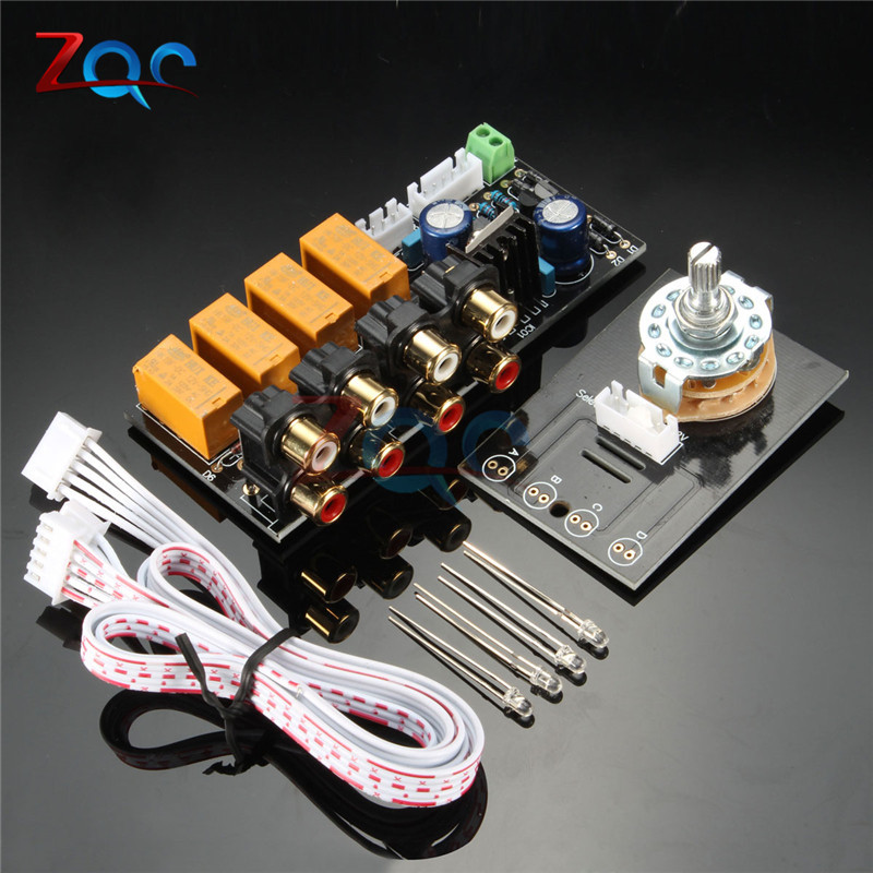 DIY Board Relay Switch Signal Selector for Audio Input Signal Amplifier Board boss audio ls 2 line selector pedal line selector and input output router