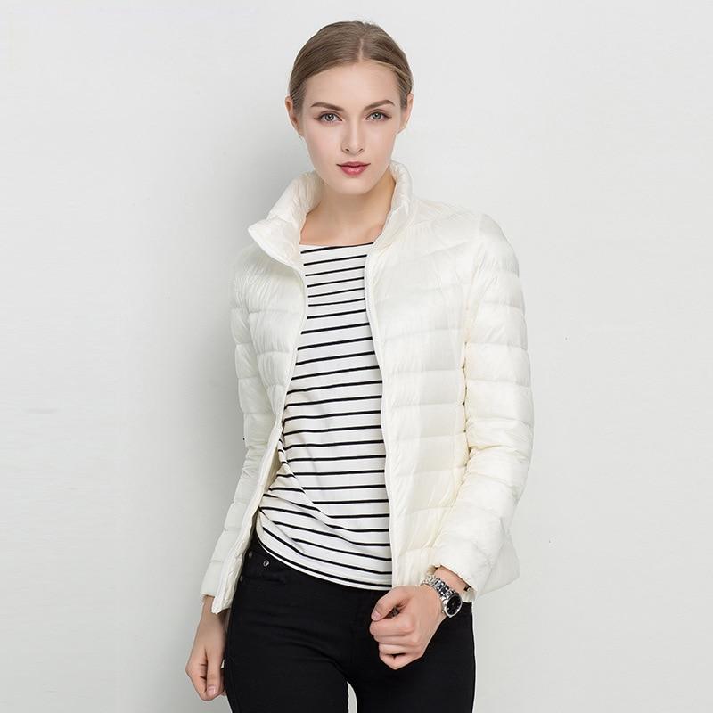 Kvinnor Vinterrock 2018 Ny Ultra Light White Duck Down Jacket Slim - Damkläder - Foto 2