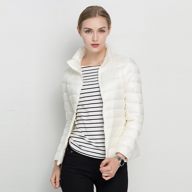 Image 2 - Women Winter Coat 2020 New Ultra Light White Duck Down Jacket 
