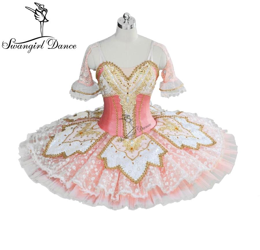 Rosa Peach Fairy Princess Tutu Professionale Delle Donne di Balletto Pancake Costume Piatto Bellrina Rosa Tutu BT9039