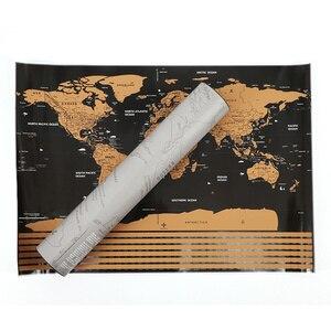 Image 2 - Роскошный постер с картой мира, персонализированный дорожный постер с атласом, новая карта