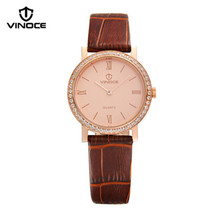 Vinoce hot models ladies watch belt ultrathin quartz  casual fashion diamond watch waterproof watch female students Relogiov8350
