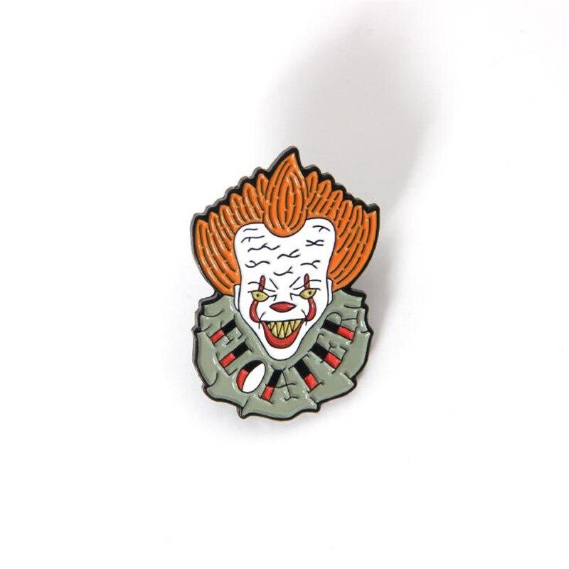 Hot New Movie Stephen King's It Brooch Cosplay Accessories Clown Joker Cartoon Fashion Badge Brooch Fancy Gift