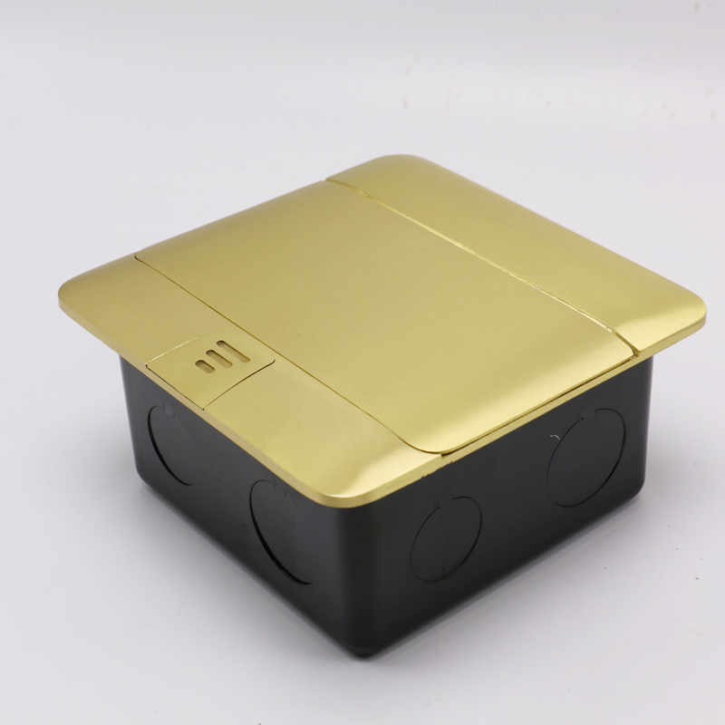 10A 250V EU 2 Pin Socket with Computer Socket and EU 2 Pin Socket with US 2 Pin SocketBrass Arc Shape Pop-up Floor Socket Outlet brass slow pop up floor socket box with 15a 125v us socket rj45 computer data